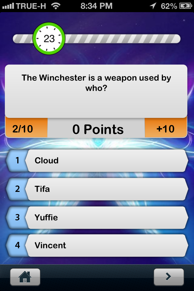 Screenshot iQuiz for Final Fantasy All Series ( video game trivia )